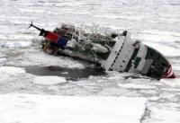 The M/S Explorer cruise ship sinks hours after hitting an iceberg off the coast of the Antarctic