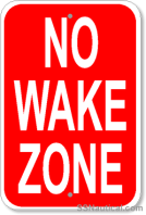 No_Wake_Zone_12x18